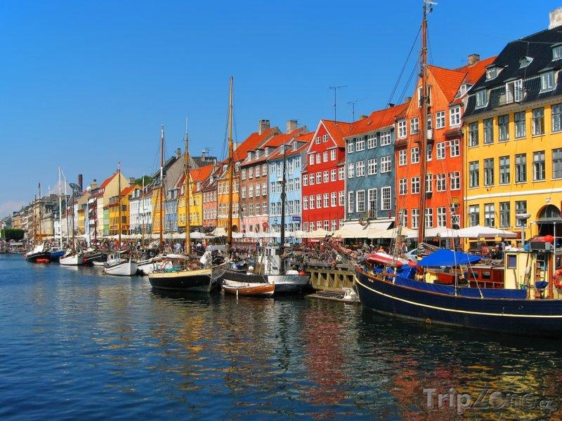 Fotka, Foto Starý přístav Nyhavn (Kodaň, Dánsko)