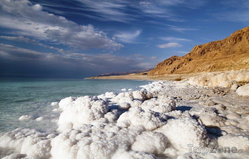 Fotka, Foto Sůl na pobřeží Mrtvého moře (Izrael)