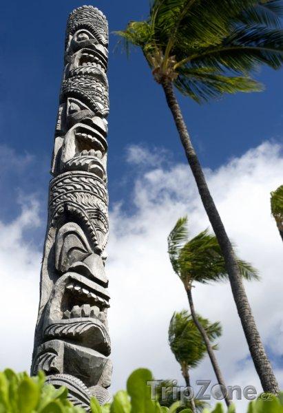Fotka, Foto Tiki totem (Honolulu, USA)