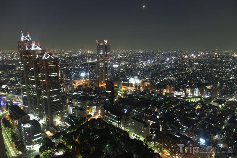Fotka, Foto Tokio v noci (Tokio, Japonsko)