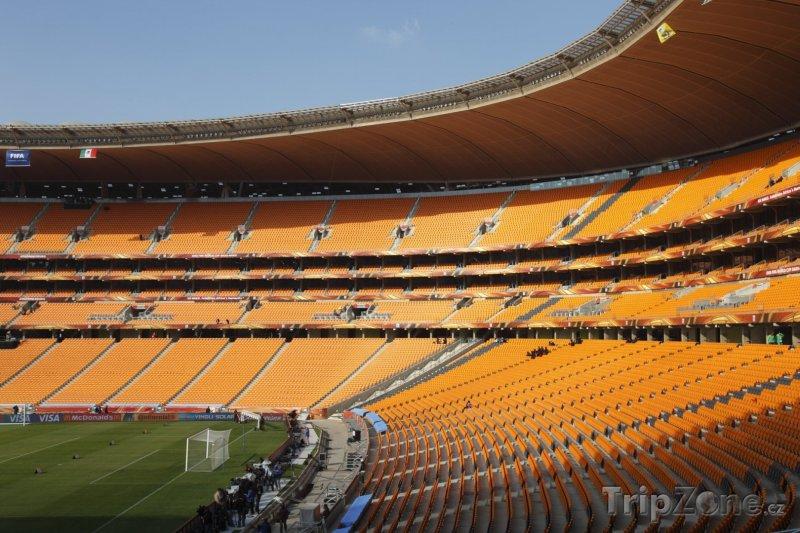 Fotka, Foto Tribuny uvnitř Soccer Stadium (Johannesburg, Jihoafrická republika)