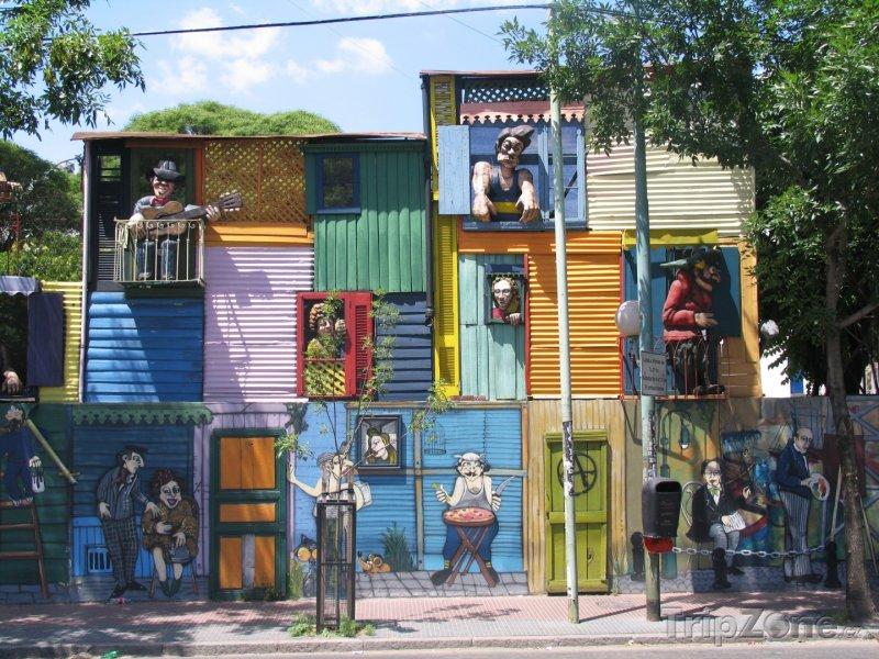 Fotka, Foto Typické domy ve čtvrti La Boca (Buenos Aires, Argentina)
