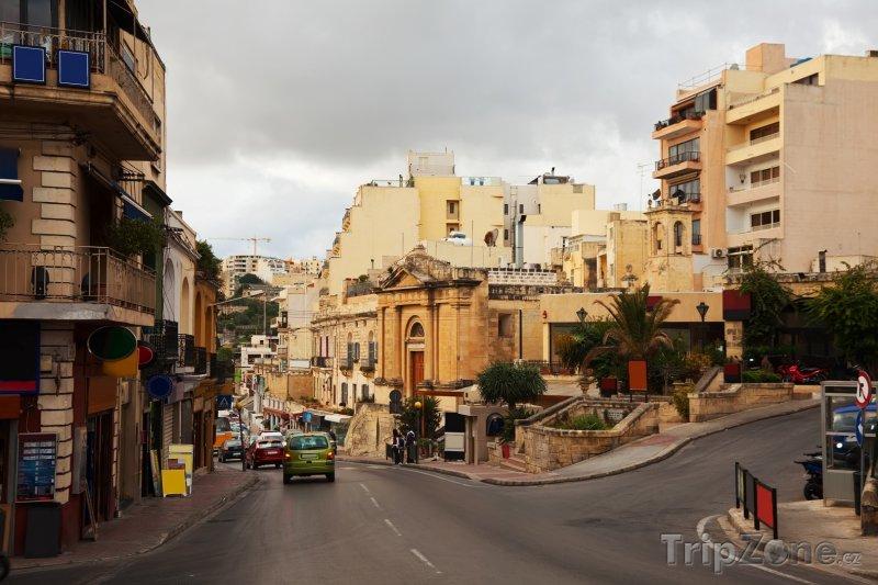 Fotka, Foto Ulice města St. Julian's (Malta)