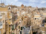 Valletta, domy ve městě