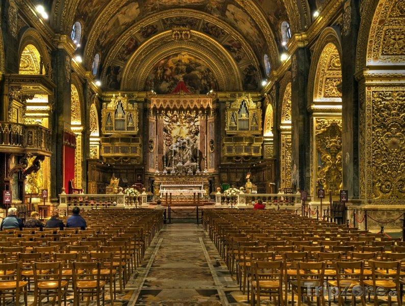 Fotka, Foto Valletta, vnitřek katedrály sv. Jana (Malta)