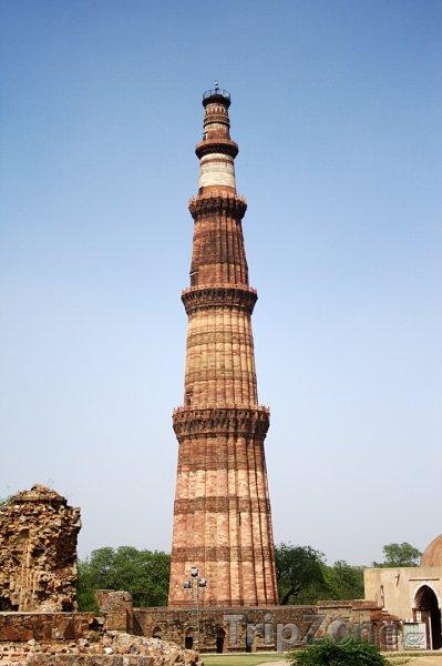 Fotka, Foto Věž Qutub Minar (Nové Dillí, Indie)