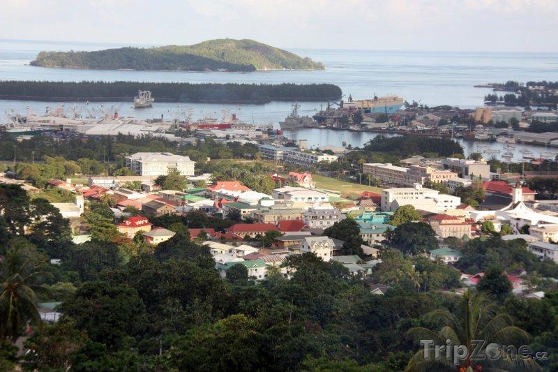 Fotka, Foto Victoria, pohled na město (Seychely)