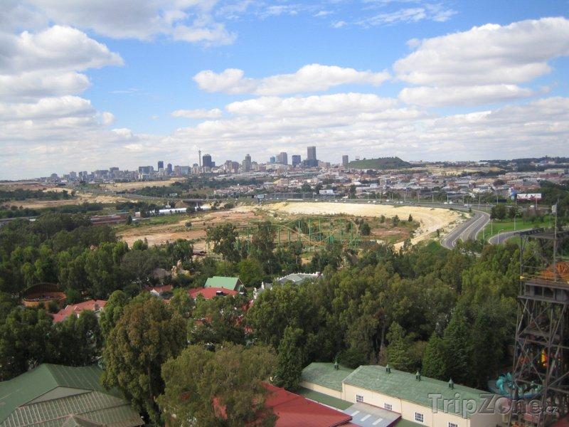 Fotka, Foto Vzdálený pohled na město (Johannesburg, Jihoafrická republika)