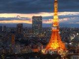 Západ slunce u Tokijské věže