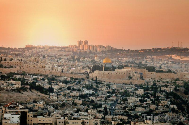 Fotka, Foto Záře nad městem Jeruzalém (Izrael)