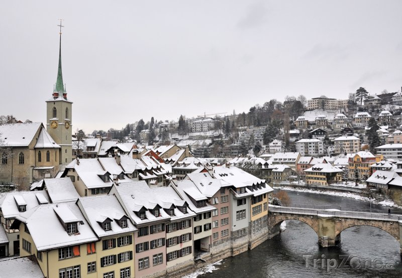 Fotka, Foto Zima v Bernu (Švýcarsko)