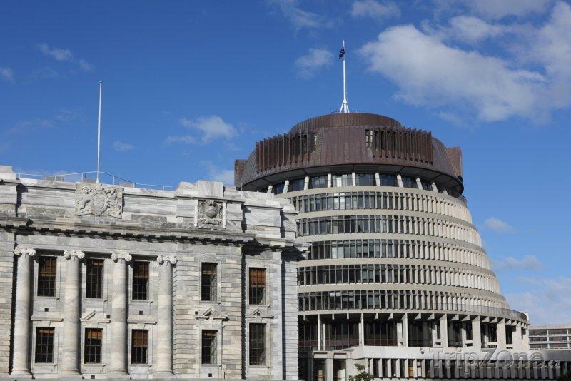 Fotka, Foto Budova parlamentu - Včelí úl (Wellington, Nový Zéland)
