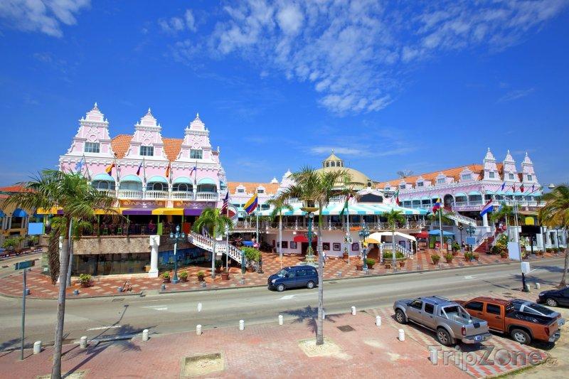 Fotka, Foto Centrum města Oranjestad (Aruba)