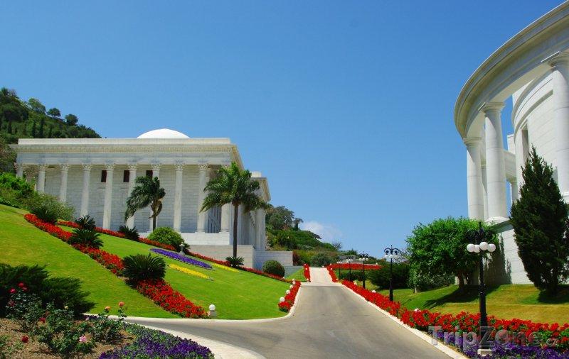 Fotka, Foto Cesta v zahradách Bahá'í (Haifa, Izrael)