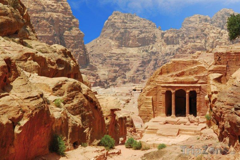 Fotka, Foto Chrám ve skalním městě Petra (Jordánsko)