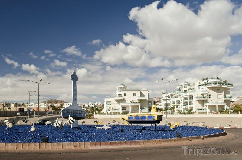 Fotka, Foto Dekorace na náměstí (Ejlat, Izrael)