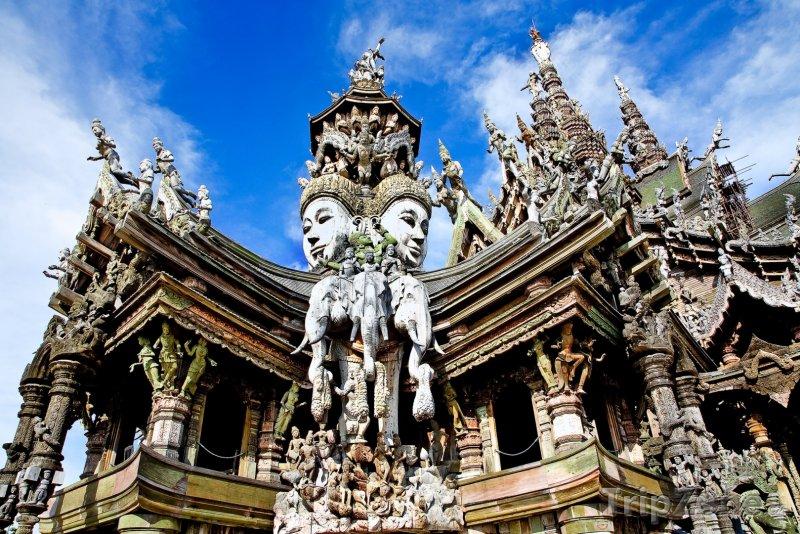 Fotka, Foto Detail svatyně Pravdy (Pattaya, Thajsko)