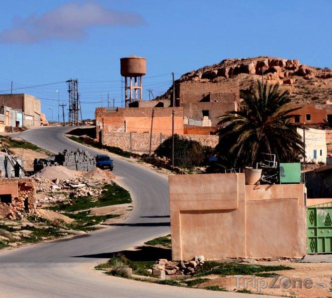 Fotka, Foto Domy v městečku Kabaw (Libye)