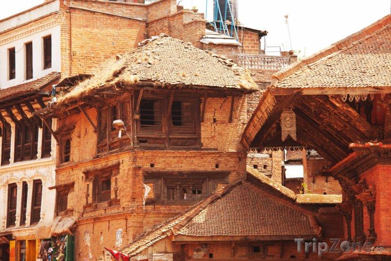 Fotka, Foto Domy ve městě Bhaktapur (Nepál)