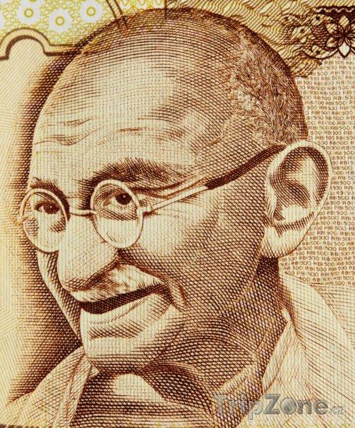 Fotka, Foto Duchovní vůdce Mahátma Gándhí (Indie)
