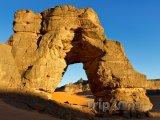 Forzhaga Arch v pohoří Acacus na Sahaře