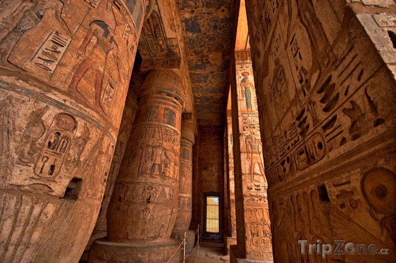 Fotka, Foto Hieroglyfy v Medinit Habu (Egypt)