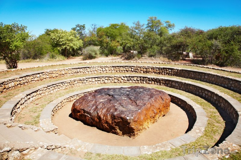 Fotka, Foto Hoba, největší nalezený meteorit (Namibie)