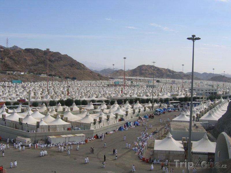 Fotka, Foto Kemp poutníků v Mekce (Saúdská Arábie)