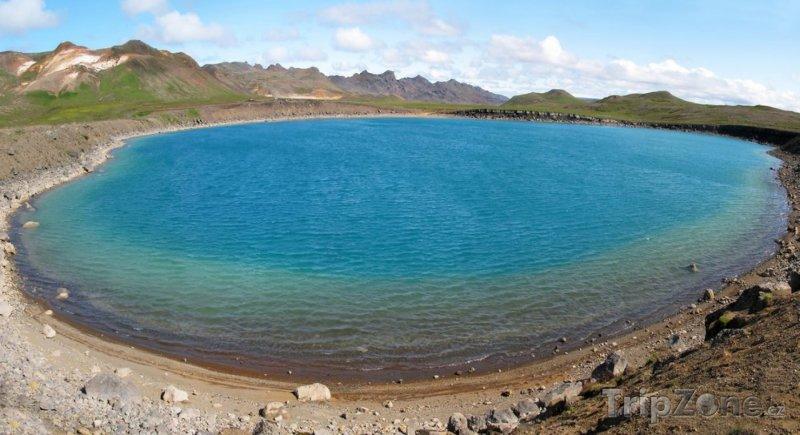 Fotka, Foto Kráterové jezero Graenavatn (Reykjavík, Island)