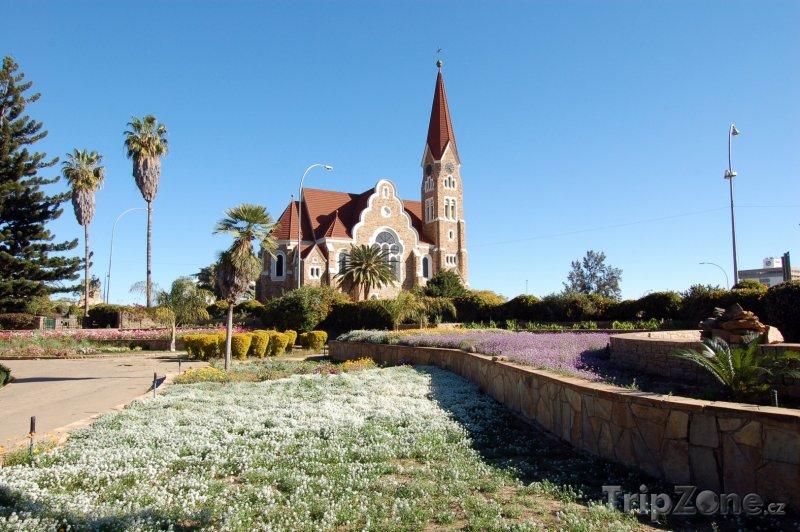 Fotka, Foto Kristův kostel ve městě Windhoek (Namibie)