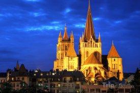 Lausanne, katedrála Notre-Dame