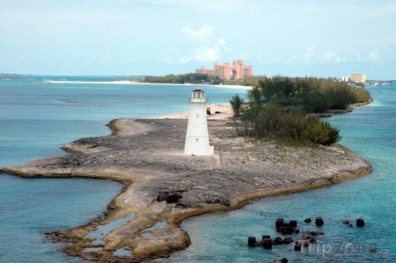 Fotka, Foto Maják na ostrůvku (Nassau, Bahamy)