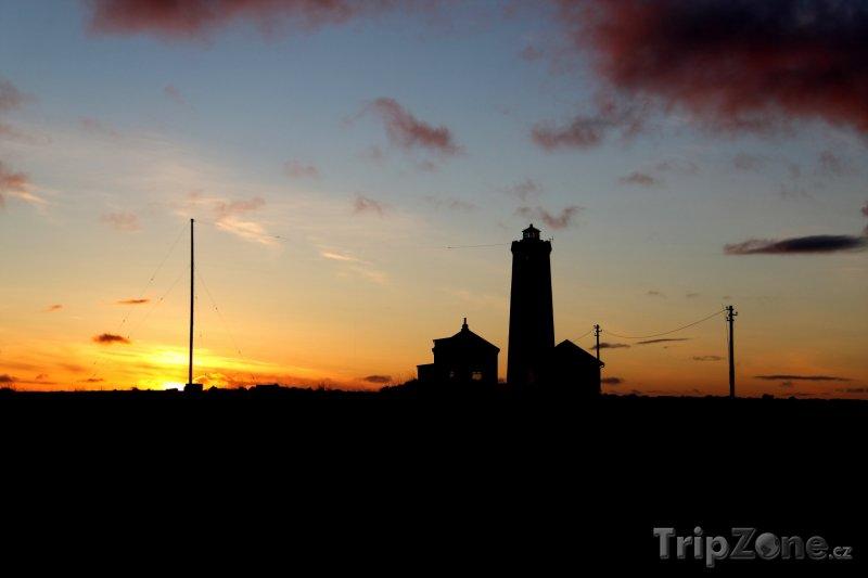 Fotka, Foto Maják v západu slunce (Reykjavík, Island)