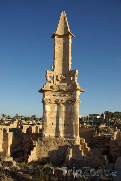 Fotka, Foto Mauzoleum ve městě Sabratha (Libye)