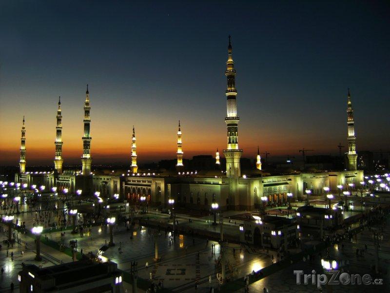 Fotka, Foto Mešita Al-Masjid al-Nabawi ve městě Medina (Saúdská Arábie)