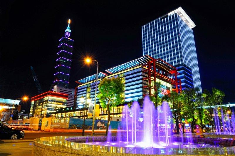 Fotka, Foto Město Taipei v noci (Tchaj-wan)