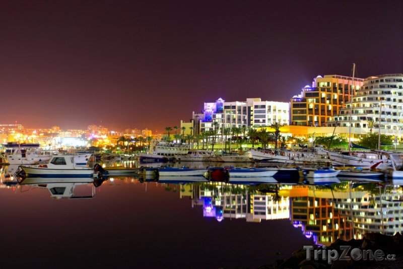 Fotka, Foto Město v noci (Ejlat, Izrael)