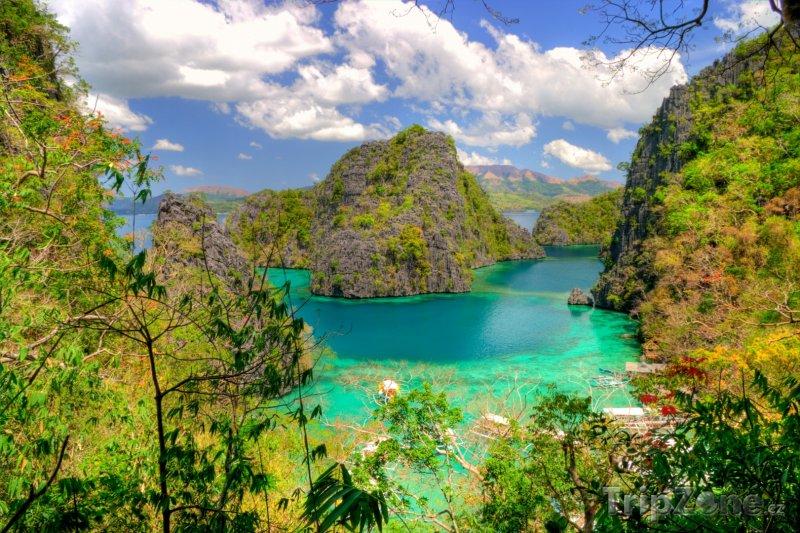Fotka, Foto Modrá laguna (Filipíny)