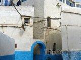 Modro bílé domy v pevnosti Udayas