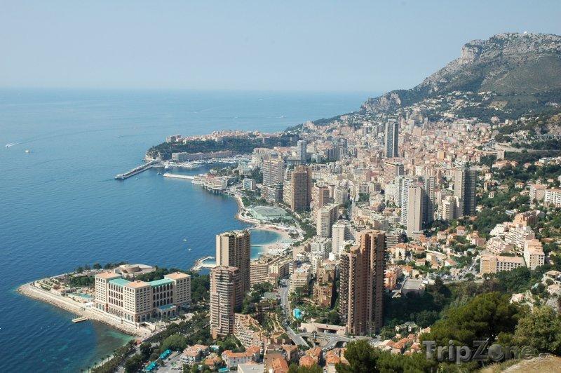 Fotka, Foto Monako, pohled na přístav (Azurové pobřeží, Francie)