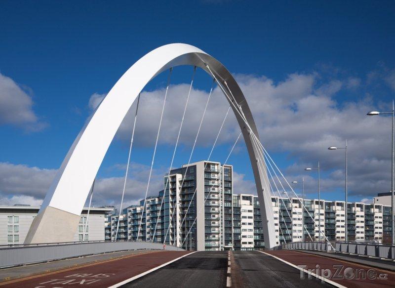 Fotka, Foto Most Clyde Arc (Glasgow, Velká Británie)