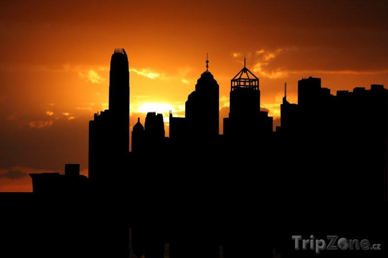 Fotka, Foto Mrakodrapy v západu slunce (Hongkong)
