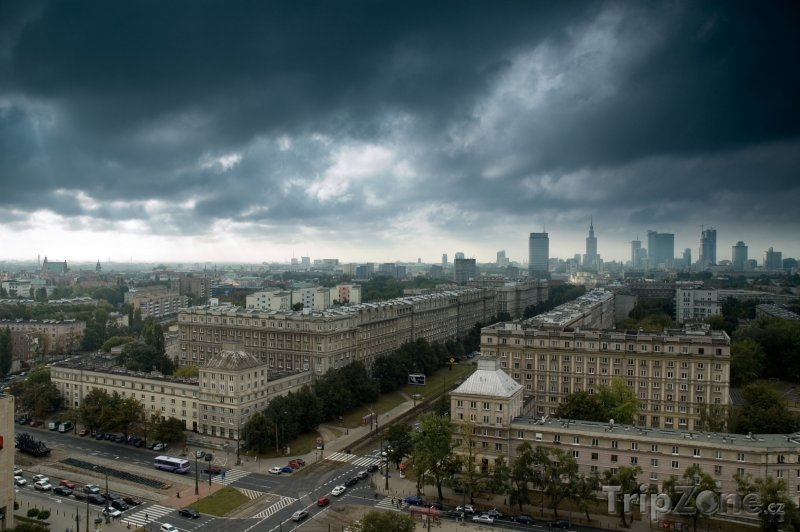 Fotka, Foto Mraky nad městem (Varšava, Polsko)