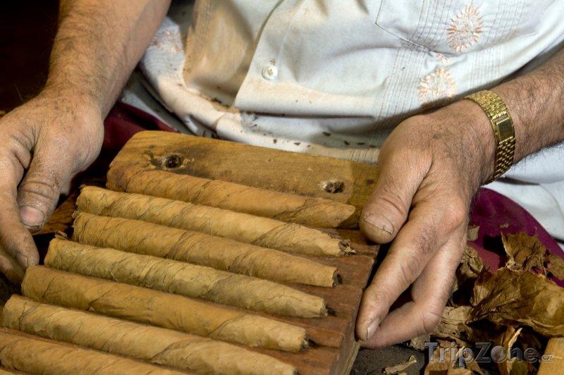 Fotka, Foto Muž roluje doutníky (Dominikánská republika)