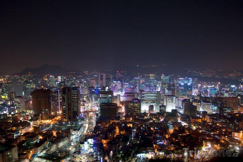 Fotka, Foto Noční město Soul (Jižní Korea)