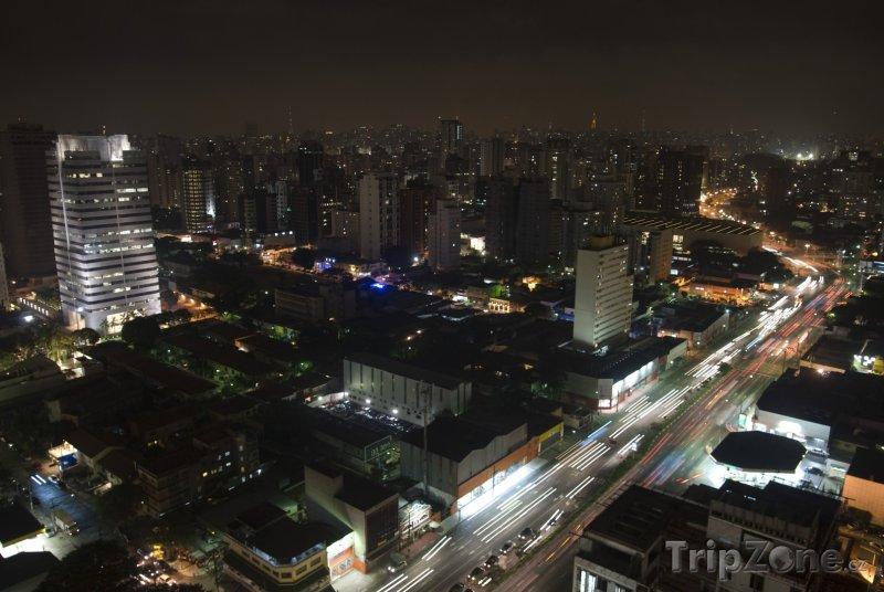 Fotka, Foto Noční město (Sao Paulo, Brazílie)