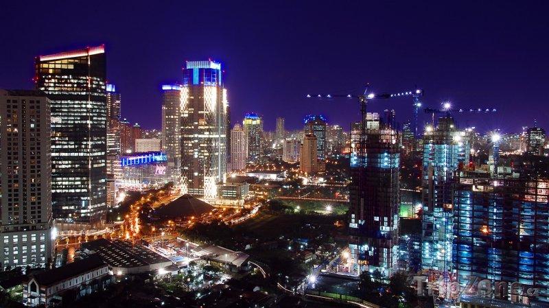 Fotka, Foto Noční město (Jakarta, Indonésie)