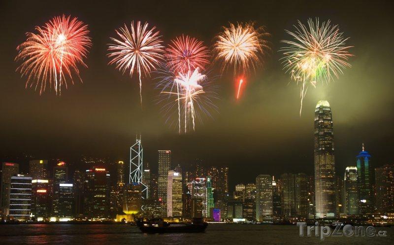 Fotka, Foto Novoroční ohňostroj (Hongkong)