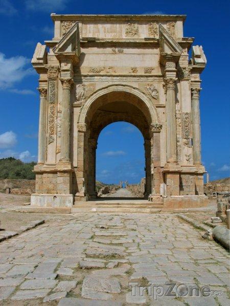 Fotka, Foto Oblouk Septimuse Severuse v Laptis Magna (Libye)