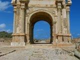 Oblouk Septimuse Severuse v Laptis Magna